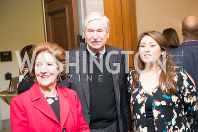 Former Ambassador John Limbert, Parvaneh Tabibzadeh, & Shervin Hadjilou, Capitol Hill Nowruz Reception, hosted by PAAIA, March 19, 2018, photo by Ben Droz.