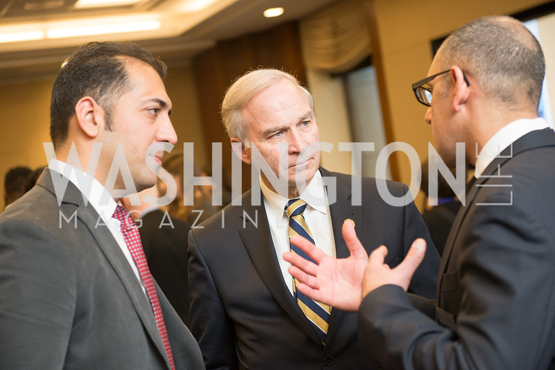 Ali Rahnama, Former Rep. Randy Forbes, Morad Ghorban,  Capitol Hill Nowruz Reception, hosted by PAAIA, March 19, 2018, photo by Ben Droz.