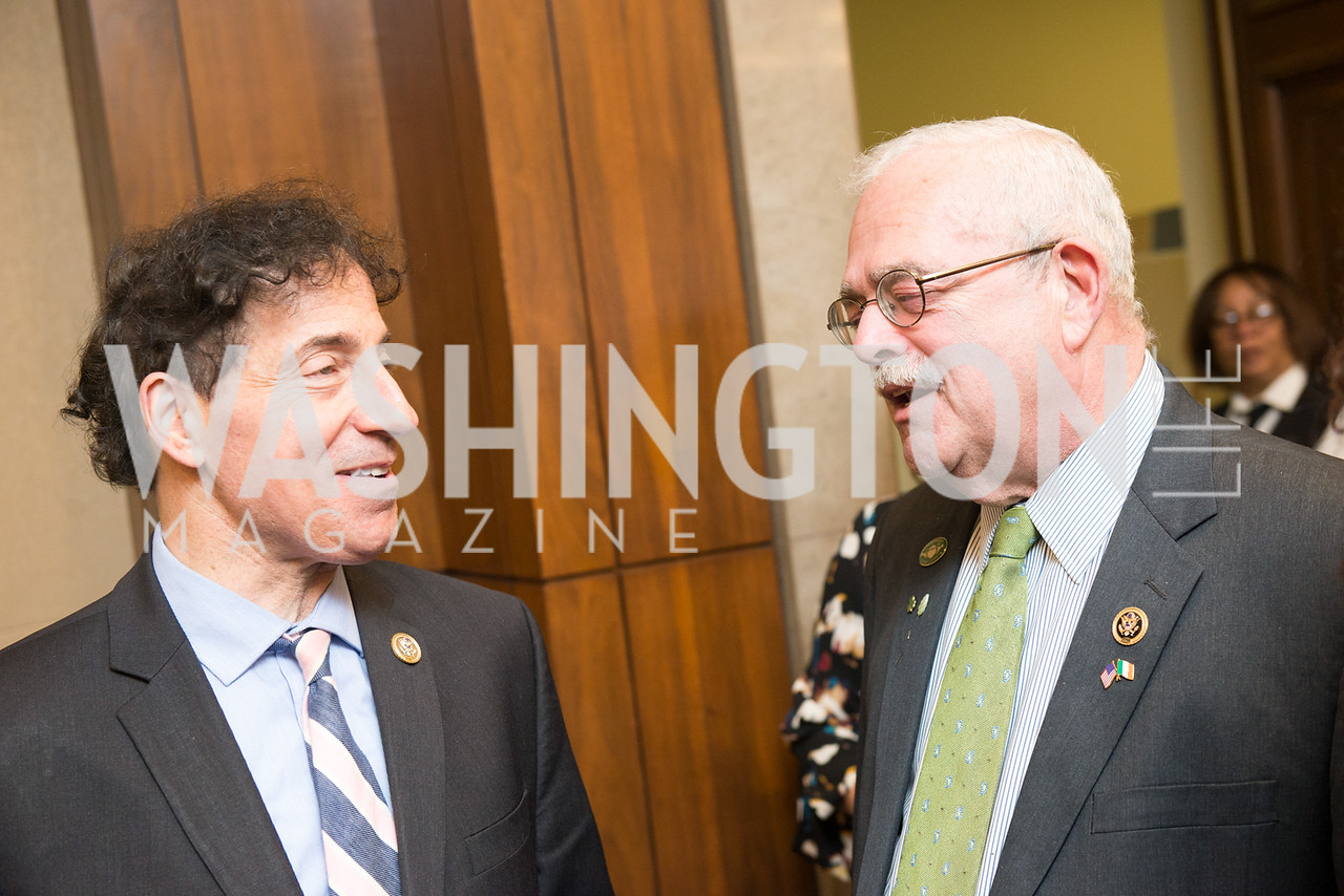 Rep. Jamie Raskin, Rep. Gerald Connolly,  Capitol Hill Nowruz Reception, hosted by PAAIA, March 19, 2018, photo by Ben Droz.