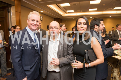 Senator Chris Van Hollen, Jason Rezaian, Yeganeh Rezaian,   Capitol Hill Nowruz Reception, hosted by PAAIA, March 19, 2018, photo by Ben Droz.
