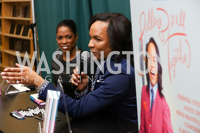 Shawn Yancy, Paul Wharton. Photo by Tony Powell. Paul Wharton Pulling it all Together Book Party. Tysons Barnes and Noble. January 20, 2018