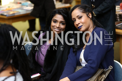 Premila Raj, Tamika Jackson. Photo by Tony Powell. Paul Wharton Pulling it all Together Book Party. Tysons Barnes and Noble. January 20, 2018