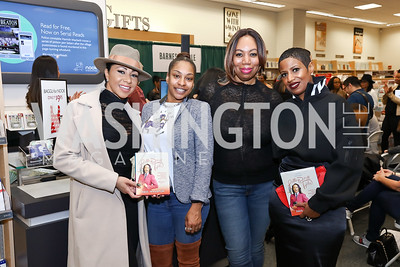 Tara Gates Anderson, Traci Baker Jackson, Karen Alston, Michele Lopez. Photo by Tony Powell. Paul Wharton Pulling it all Together Book Party. Tysons Barnes and Noble. January 20, 2018