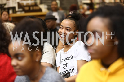 Paul's eldest niece Anasia Wharton. Photo by Tony Powell. Paul Wharton Pulling it all Together Book Party. Tysons Barnes and Noble. January 20, 2018
