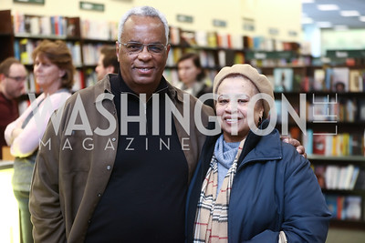 Paul W. Wharton and Renee Wharton. Photo by Tony Powell. Paul Wharton Pulling it all Together Book Party. Tysons Barnes and Noble. January 20, 2018