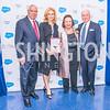 General Colin Powell, Katherine Bradley, Alma Powell, David Bradley. Photo by Alfredo Flores. Promise Night. Newseum. April 18, 2018.