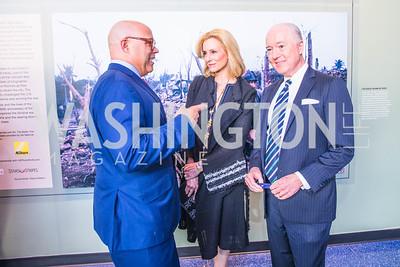 Michael Powell, Katherine Bradley, David Bradley. Photo by Alfredo Flores. Promise Night. Newseum. April 18, 2018.