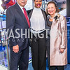 General Colin Powell, Carmita Semaan, Alma Powell, . Photo by Alfredo Flores. Promise Night. Newseum. April 18, 2018.