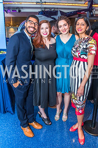 Jose Morales, Liz Glaser, Beah Jacobson, Monika Kincheloe .  Photo by Alfredo Flores. Promise Night. Newseum. April 18, 2018.