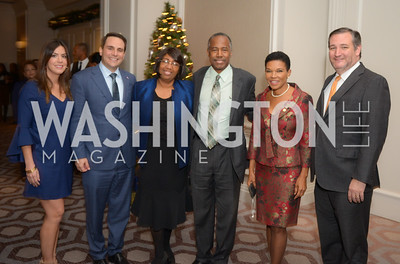 Mrs. and Mr., Ambassador Carlos Trujillo; Mrs. and Mr., Ben Carson; Ambassador Audrey Patrice Marks; Senator Ted Cruz, Reception for  Reception for Jamaican Prime Minister, Ritz Carlton, November 27, 2018.  Photo by Ben Droz.