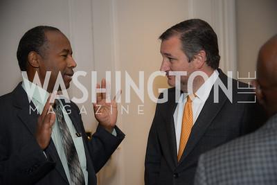Secretary Ben Carson, Senator Ted Cruz,  Reception for Jamaican Prime Minister, Ritz Carlton, November 27, 2018.  Photo by Ben Droz.