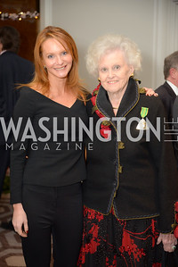 Laura Steuart, Peggy Steuart,  Reception for Jamaican Prime Minister, Ritz Carlton, November 27, 2018.  Photo by Ben Droz.