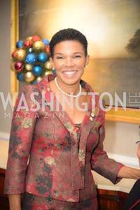 Ambassador Audrey Patrice Marks,  1Reception for Jamaican Prime Minister, Ritz Carlton, November 27, 2018.  Photo by Ben Droz.