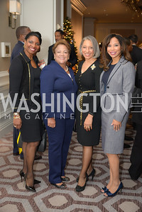 Yvonne E. Clarke, Dianne Duggins, Dr. Kimberly Jeffries Leonard, Dr. Theresa Buckson, Reception for Jamaican Prime Minister, Ritz Carlton, November 27, 2018.  Photo by Ben Droz.