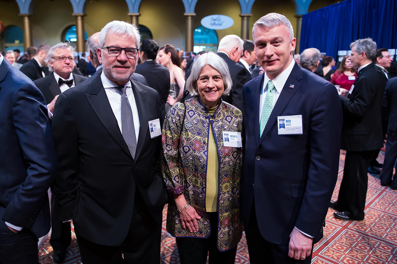 Rob Quartel, Michela English and Rick Bright attend the 2018 Regeneron Science Talent Search - A program at Society of Science and the Public 77th Annual Awards Gala on March 13, 2018.<br /> <br /> Photography by Joy Asico