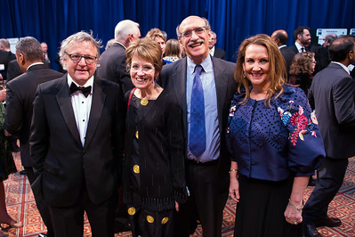 Joe Palca, Mary Sue Coleman, Martin Chalfie, Christine Burton attend the 2018 Regeneron Science Talent Search - A program at Society of Science and the Public 77th Annual Awards Gala on March 13, 2018.  Photography by Joy Asico