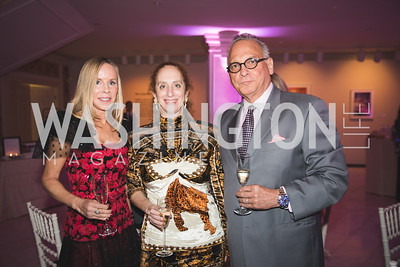 CIndy Jones, Claudia Zerg, Tony Morell. Photo by Bruce Allen. 2018 Rodarte Exhibition Reception