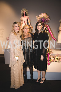 Laura Mulleavy, Odile Gilrbert, Kate Mulleavy.  Photo by Bruce Allen. 2018 Rodarte Exhibition Reception