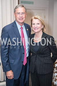 Rep. Blaine Luetkemeyer, Sen. Shelly Moore Capito,  Roy Pfautch Dinner, In Honour of The Ambassador of Japan, National Museum of Women in the Arts, June 5, 2018. Photo by Ben Droz.