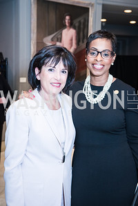 Francine Salamone, Karen Boykin-Towns, Roy Pfautch Dinner, In Honour of The Ambassador of Japan, National Museum of Women in the Arts, June 5, 2018. Photo by Ben Droz.