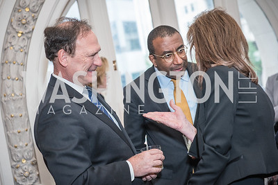 Justice Samuel Alito, Dr. Eric Motley,  Roy Pfautch Dinner, In Honour of The Ambassador of Japan, National Museum of Women in the Arts, June 5, 2018. Photo by Ben Droz.