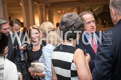 Sen. Pat Toomey, Sen. Shelly Moore Capito, in Background,  Roy Pfautch Dinner, In Honour of The Ambassador of Japan, National Museum of Women in the Arts, June 5, 2018. Photo by Ben Droz.
