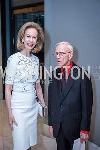 Bonnie McElveen-Hunter, Roy Pfautch,  Roy Pfautch Dinner, In Honour of The Ambassador of Japan, National Museum of Women in the Arts, June 5, 2018. Photo by Ben Droz.