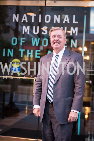 Senator Lindsey Graham, Roy Pfautch Dinner, In Honour of The Ambassador of Japan, National Museum of Women in the Arts, June 5, 2018. Photo by Ben Droz.
