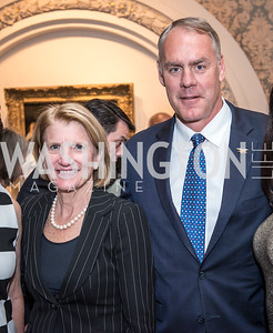 Sen. Shelly Moore Capitol, Sec. Ryan Zinke,Roy Pfautch Dinner, In Honour of The Ambassador of Japan, National Museum of Women in the Arts, June 5, 2018. Photo by Ben Droz.