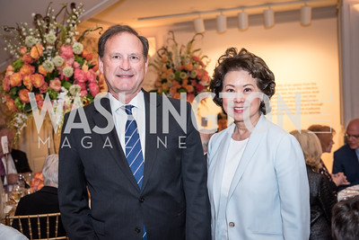Justice Samuel Alito, Secretary Elaine Chao,  Roy Pfautch Dinner, In Honour of The Ambassador of Japan, National Museum of Women in the Arts, June 5, 2018. Photo by Ben Droz.