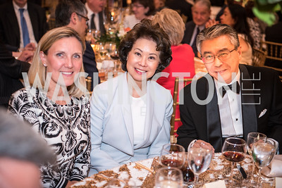 Secretary Elaine Chao, Ambassador Shinsuke Sugiyama, Roy Pfautch Dinner, In Honour of The Ambassador of Japan, National Museum of Women in the Arts, June 5, 2018. Photo by Ben Droz.