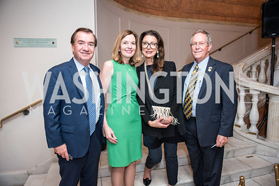Rep. Ed Royce, Marie Royce, Aniko Gaal Schott, Rep. Joe Wilson,  Roy Pfautch Dinner, In Honour of The Ambassador of Japan, National Museum of Women in the Arts, June 5, 2018. Photo by Ben Droz.