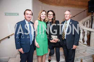 Rep. Ed Royce, Marie Royce, Aniko Gaal Schott, Rep. Joe Wilson,  Roy Pfautch Dinner, In Honour of The Ambassador of Japan, National Museum of Women in the Arts, June 5, 2018. Photo by Ben Droz.