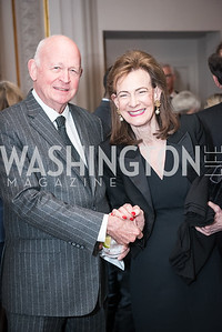 Michael Pillsbury, Lally Weymouth,  Roy Pfautch Dinner, In Honour of The Ambassador of Japan, National Museum of Women in the Arts, June 5, 2018. Photo by Ben Droz.