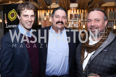 "John Neffinger, Randy ""Iron Stache"" Bryce, Bruce Keiloch. Photo by Tony Powell. ""Russian Roulette"" Book Party. China Chilcano. March 20, 2018"