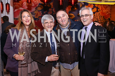 """Kimberly Grant, Michael Isikoff, Jose Andres, David Corn. Photo by Tony Powell. """"Russian Roulette"""" Book Party. China Chilcano. March 20, 2018"""