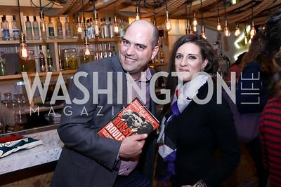 "Dan Michalski, Caroline Orr. Photo by Tony Powell. ""Russian Roulette"" Book Party. China Chilcano. March 20, 2018"