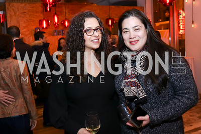 """Garance Franke-Ruta, Jay Newton-Small. Photo by Tony Powell. """"Russian Roulette"""" Book Party. China Chilcano. March 20, 2018"""