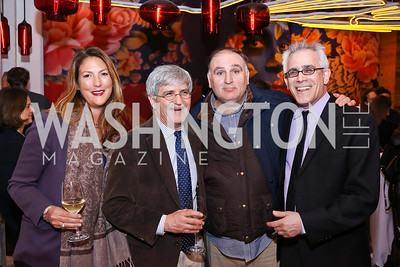 "Kimberly Grant, Michael Isikoff, Jose Andres, David Corn. Photo by Tony Powell. ""Russian Roulette"" Book Party. China Chilcano. March 20, 2018"