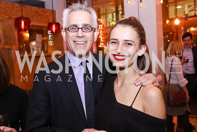 """David Corn and Amarins Laanstra Corn. Photo by Tony Powell. """"Russian Roulette"""" Book Party. China Chilcano. March 20, 2018"""