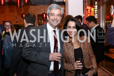 """Luiz De Toledo and Susan Toffler. Photo by Tony Powell. """"Russian Roulette"""" Book Party. China Chilcano. March 20, 2018"""