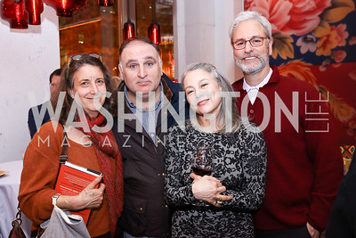 "Martha Weiss, Jose Andres, Mary Noble Ours, Josh Rosenthal. Photo by Tony Powell. ""Russian Roulette"" Book Party. China Chilcano. March 20, 2018"