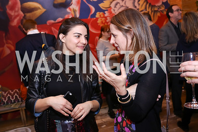 "Christina Moniodis, Lauren Johnston. Photo by Tony Powell. ""Russian Roulette"" Book Party. China Chilcano. March 20, 2018"