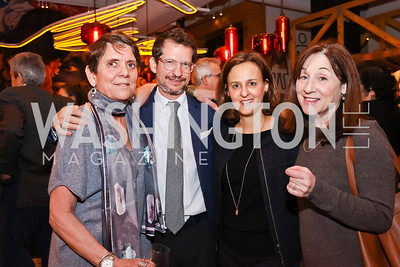 "Gail Ross, Dan Klaidman, Lisel Loy, Jane Mayer. Photo by Tony Powell. ""Russian Roulette"" Book Party. China Chilcano. March 20, 2018"