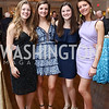 Grace Hilliard, Matilda Matheson, Georgina Ohrstrom, Helen Matheson. Photo by Tony Powell. Ruth Buchanan's 100th Birthday Party. Chevy Chase Club. February 22, 2018