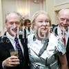 Osborne Mackie, Diana Prince, Morgan Delaney. Photo by Tony Powell. Ruth Buchanan's 100th Birthday Party. Chevy Chase Club. February 22, 2018