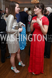 Eve Matheson, Delilah Ohrstrom. Photo by Tony Powell. Ruth Buchanan's 100th Birthday Party. Chevy Chase Club. February 22, 2018