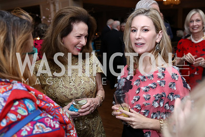 Nancy Rosebush, Alexandra Drucker. Photo by Tony Powell. Ruth Buchanan's 100th Birthday Party. Chevy Chase Club. February 22, 2018