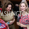 Nancy Rosebush, Alexandra Drucker. Photo by Tony Powell. Ruth Buchanan's 100th Birthday Party. Chevy Chase Club. February 22, 2018