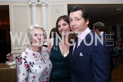 Brittain Damgard, Susie Matheson, Murdoch Matheson. Photo by Tony Powell. Ruth Buchanan's 100th Birthday Party. Chevy Chase Club. February 22, 2018